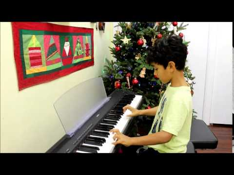 My son playing the Carol of the Bells by M. Leontovich