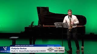 Vladyslav Dovhan plays Étude 12 – Douze Études Caprices, Eugène BOZZA