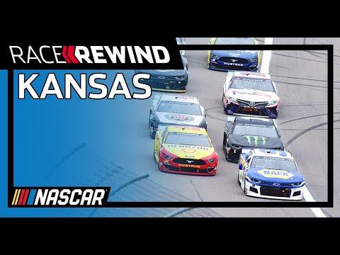 NASCAR ハリウッドカジノ400(カンザス・スピードウェイ)のレースを15分にまとめたダイジェスト動画