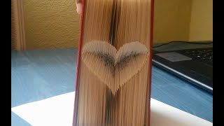 Make An Inverted Heart Folded Book - Time Lapse - Advertised Version