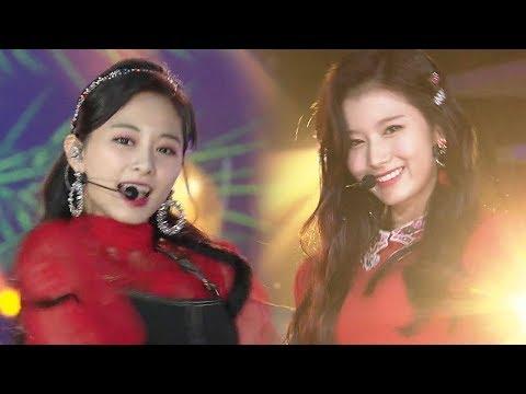 TWICE트와이스, 귀여운 성탄절 요정 'Dance The Night Away' @2018 SBS 가요대전