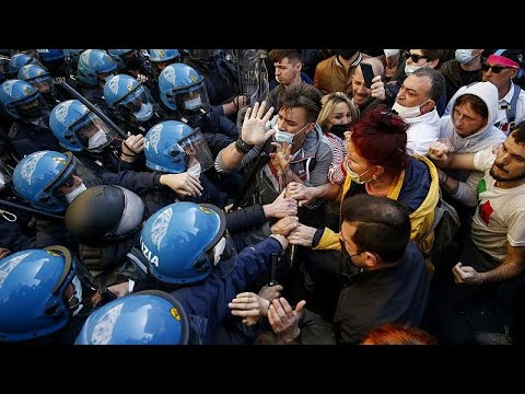 Ιταλία: Επεισόδια σε διαδήλωση κατά των περιοριστικών μέτρων…