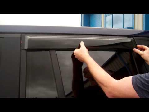 Deflector de Lluvia//viento de ventanas teñidas Ahumado Kit Para Range Rover L322 2002-12 Vogue