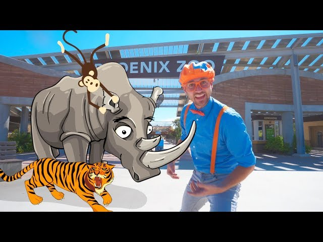 Blippi Visits the Zoo   Fun Animals for Children and Toddlers