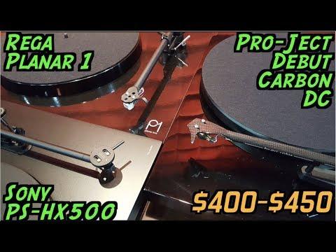 Turntables $400 -$450: Shoot-Out & Reviews: Pro-Ject vs Rega vs Sony