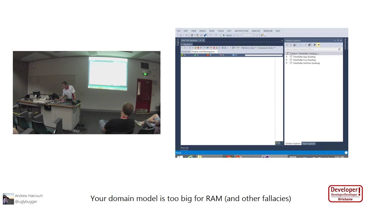 Your domain model is too big for RAM (and other fallacies)