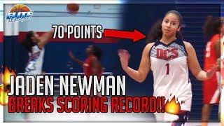 70 POINTS!! Jaden Newman Hits 17 3's & Breaks Scoring Record