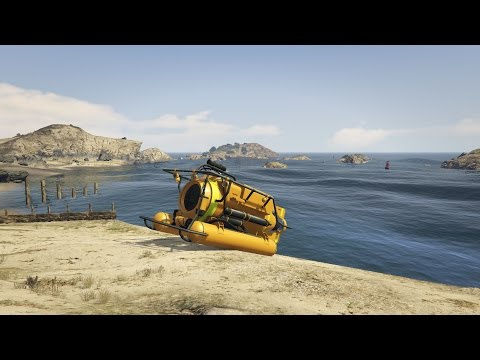 GTA V GTA 5 Online Rare Vehicles Episode 1 Submarine Spawn Location