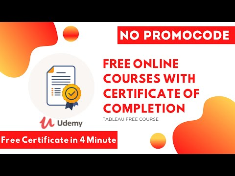 Free Online Courses with Certificate of Completion [2020]   Tableau ...