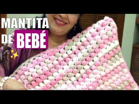TEJE MANTITA LILI para bebé en crochet (fácil y rápido) - Yo Tejo con LAURA CEPEDA