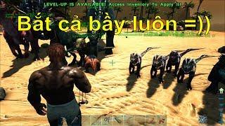 ARK: Thieves Island #2 - Bắt được cả bầy khủng long trẻ trâu Dilophosaurus =))