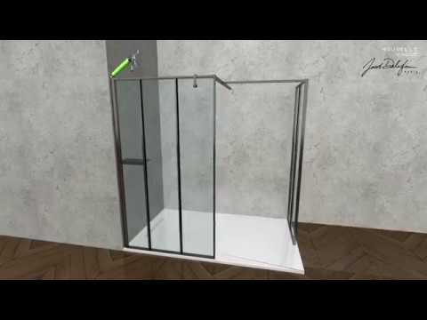 Nouvelle Vague : l'installation de la paroi de douche en angle