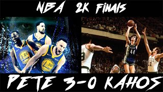 NBA 2K18 IN HD Warriors Vs.  70 - 71 Hawks FINALS GAME 4 PETE VS. KAHOS DUBS LEAD 3 - 0