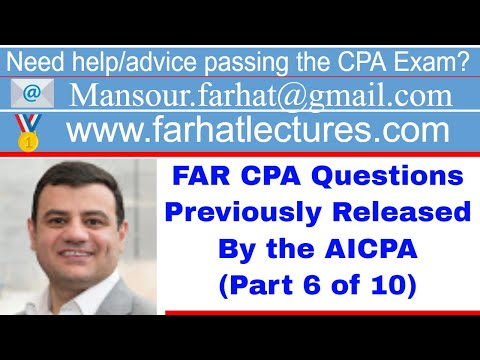 Practice CPA exam FAR Questions | Released by AICPA ... - YouTube