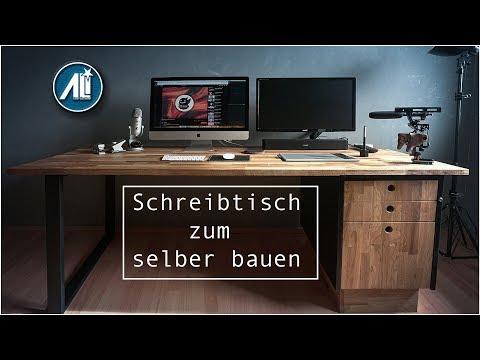 ✅#2 Schreibtisch zum selber bauen ⎮ Modernes Design ⎮ DIY