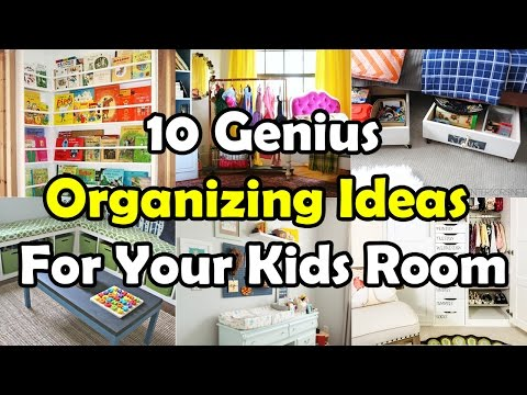 10 Genius Organizing Ideas For Your Kids Room