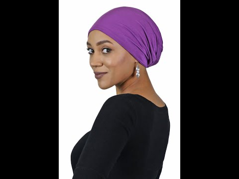 Luxury Bamboo Slouchy Beanie - Solid Colors Video