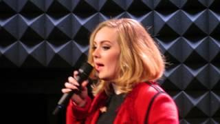 Adele sings Someone Like You @ Joe's Pub NYC November 20, 2015