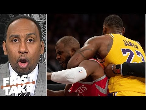 Stephen A: LeBron pulling Chris Paul from fight was 'the right thing' | First Take