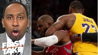Stephen A: LeBron pulling Chris Paul from fight was