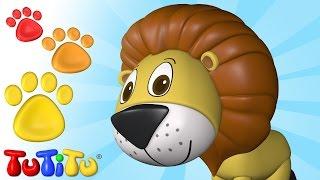 Ein Löwe und andere Tiere - Erfahren Tiere Namen mit TuTiTu