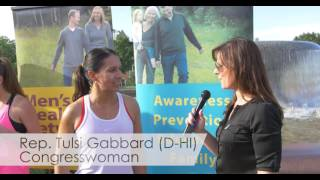 Congresswoman Tulsi Gabbard (HI) at the Congressional Workout