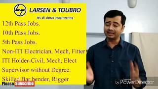 Larsen & Toubro नौकरी  एवं प्रशिक्षण  Jobs & free training -ITI Non-ITI के  लिए मौका