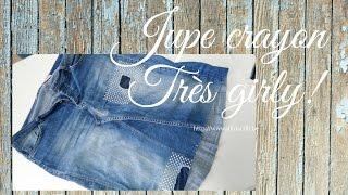 Réaliser une jupe crayon au départ d'un vieux jeans