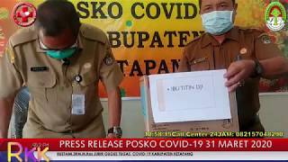 Press Release Covid -19 Kabupaten Ketapang (31 Maret 2020)