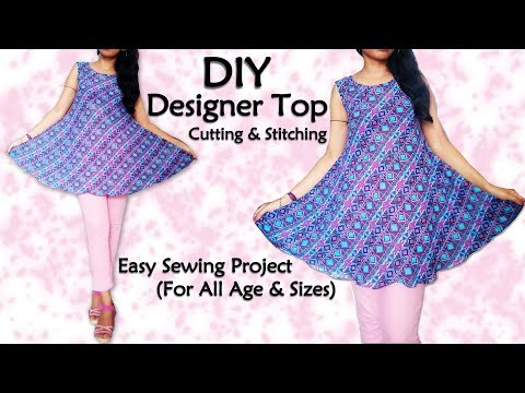 Diy Designer Top Cutting & Stitching | Sewing for Beginners