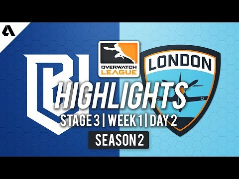 Boston Uprising vs London Spitfire | Overwatch League S2 Highlights - Stage 3 Week 1 Day 2