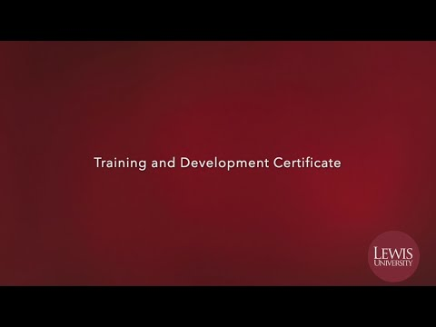 Training and Development Certificate - YouTube