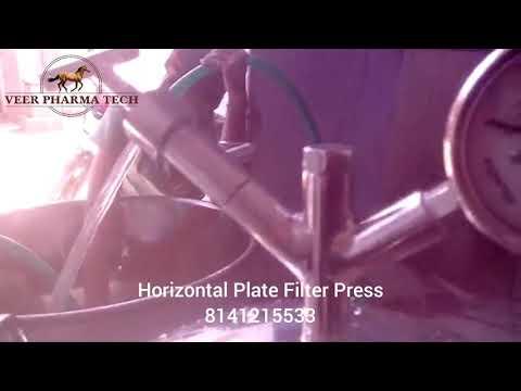SS Zero Hold Up Sparkler Filter Press