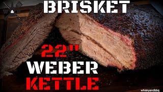 Brisket On Weber 22 Kettle Using Charcoal Snake Method