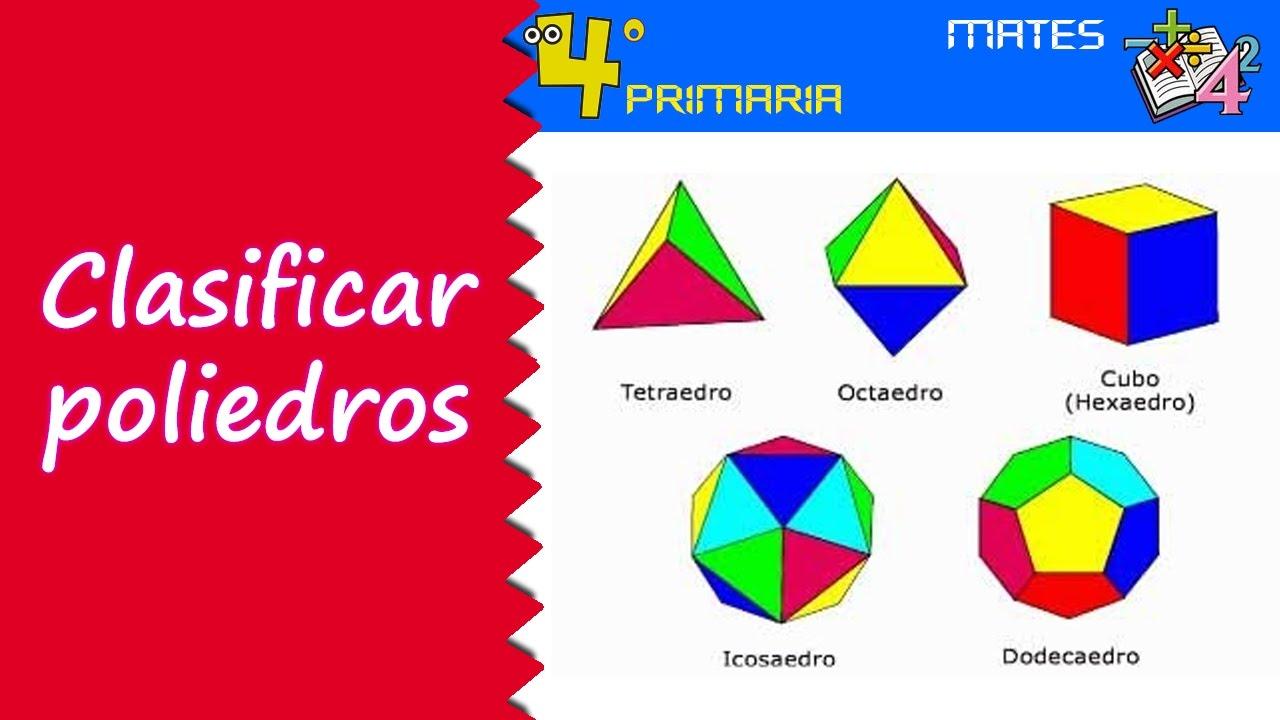 Matemáticas. 4º Primaria. Tema 1. Clasificación de poliedros