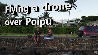 Drone and Electric skating in Poipu | Nathaniel birthday vlog | Family life | DJI Mavic Air 2. GoPro