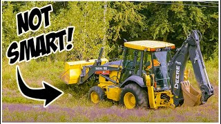 What NOT To Do in a Backhoe | Tractor Loader Backhoe Operator Training