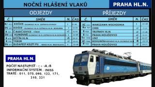 Hlášení vlaků Praha hl.n. - 14.1.2017