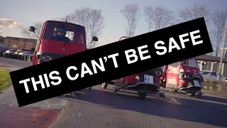 THIS CAN'T BE SAFE! - Episode 1: Piaggio Ape Racing | Carfection