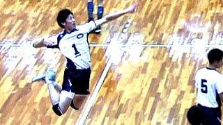 石川祐希・スパイク練習!バレーボール清水邦広【中央大学 Vs パナソニック】黒鷲旗 Yuki Ishikawa Spikes Volleyball