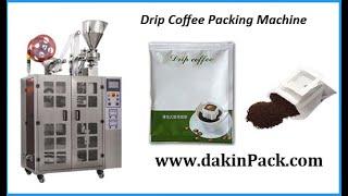 China drip coffee bag packaging machine, coffee roasting grinding and packing machine youtube video