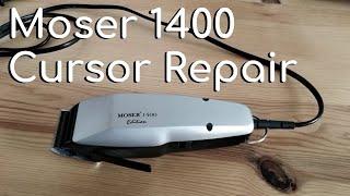 Moser 1400 repair, cursor replacement. Assembly of cursor