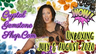Crystal Gemstone Shop.Com Unboxing - July & August 2020 - Crystal Jewelry - Healing Crystals
