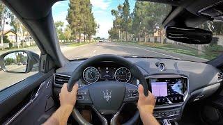 2021 Maserati Ghibli S Q4 GranLusso POV Test Drive (3D Audio)(ASMR)