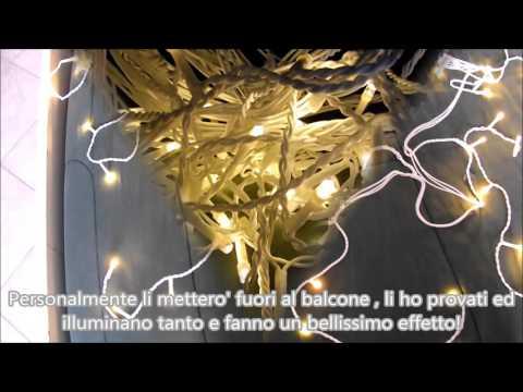 Luci illuminazione di Natale 8 metri 160 LED Icicle Blumfeldt