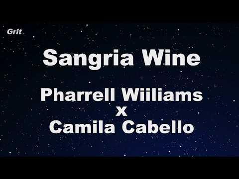 Sangria Wine - Pharrell Williams x Camila Cabello Karaoke 【No Guide Melody】 Instrumental