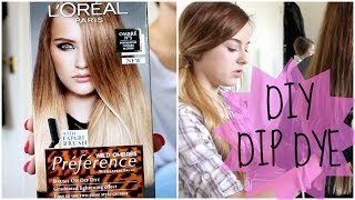 HOW TO: DIY NATURAL HAIR DIP DYE OMBRE