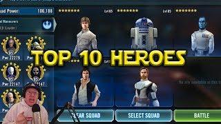 Star Wars: Galaxy Of Heroes - Top 10 Best Heroes October 2017
