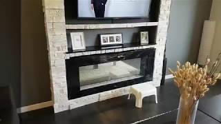 DIY How-to-build A  Fireplace Feature Wall (faux Stone And Recessed Mantel)