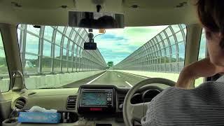 「震度6弱」誰もいなくなった通行止め中の新名神高速道路を走行2018年6月18日
